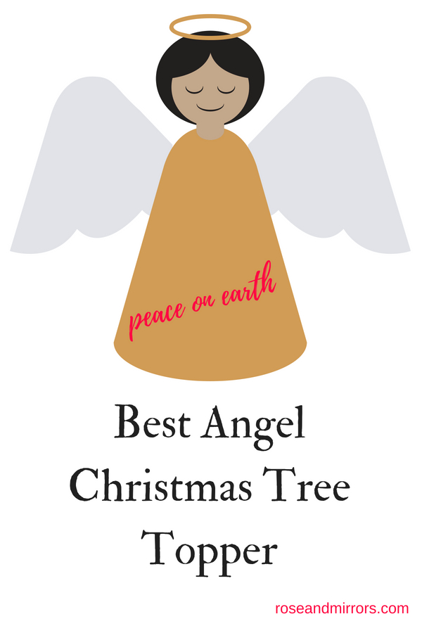 Peace Christmas Tree Topper.Best Angel Christmas Tree Topper Rose And Mirrors