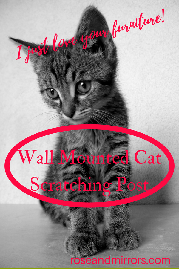 Wall Mounted Cat Scratching Post Rose And Mirrors